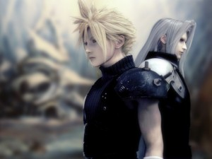 Cloud and Sephiroth with an updated, modern look.