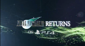 Final Fantasy VII Port on PS4