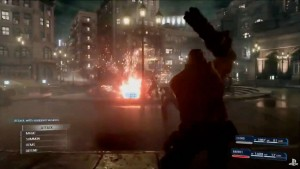 Barret in Combat for Final Fantasy VII Remake